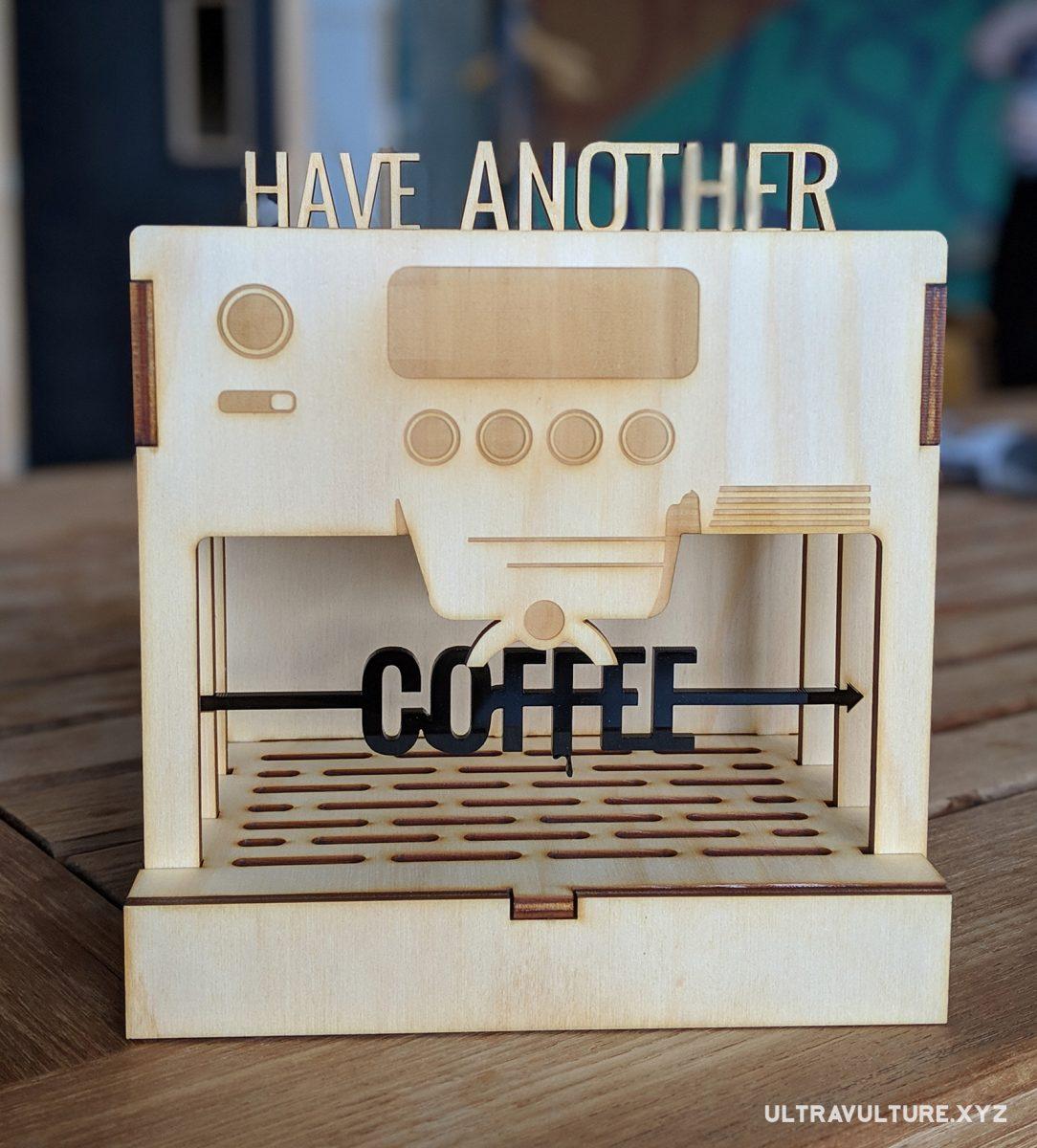 Espresso machine sculpture