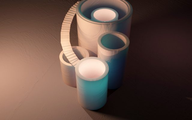 3D rendered cylinders