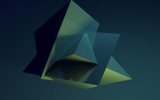 Shiny rendered geometric triangles